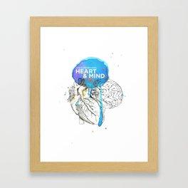 Art Coordinates Heart and Mind Framed Art Print