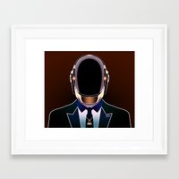 daft punk Framed Art Prints featuring Daft Punk by Alli Vanes