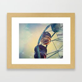 Sparkle Wheel Framed Art Print