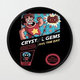 Crystal Gems Wall Clock