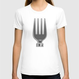 Dining Fork style Fashion Modern Design Print! Life set. Lover to eat. Hungry. Glutton. Food Lover. T-shirt