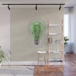 The Green Light Wall Mural