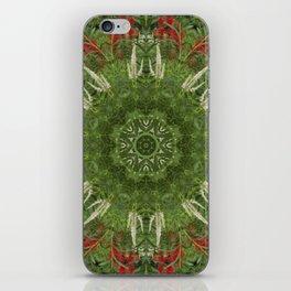 Cardinal flower and Culver's root kaleidoscope iPhone Skin