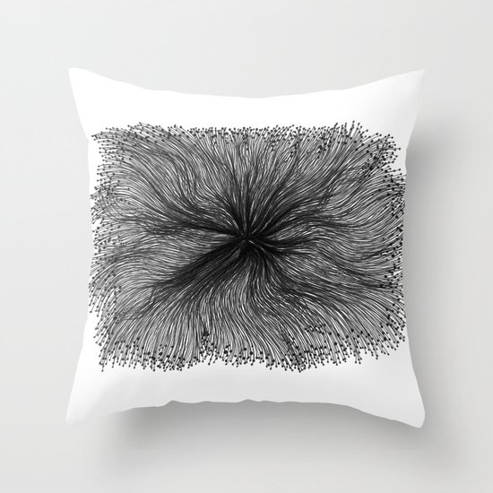 Jellyfish Large B&W Throw Pillow