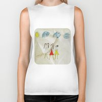 sisters Biker Tanks featuring Sisters?  by Ethna Gillespie
