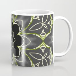 Gold & Green on Black Mosaic Tile Coffee Mug