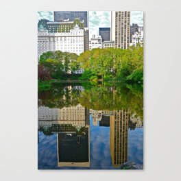 The Pond Reflections 1 - Central Park, NYC Canvas Print