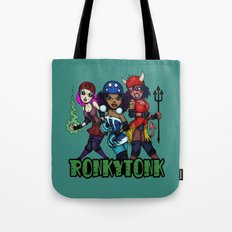 RonkyTonk Halloween Roller Derby Shirt Tote Bag