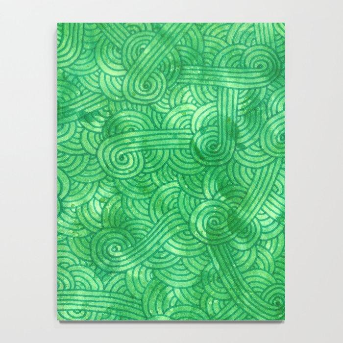 Bright green swirls doodles Notebook