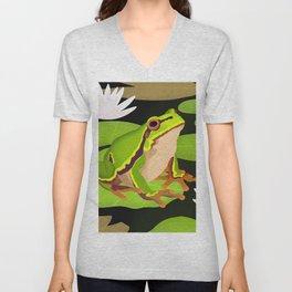 Lilypads Bullfrog Unisex V-Neck