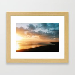 The last glow Framed Art Print