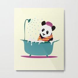 panda washes Metal Print