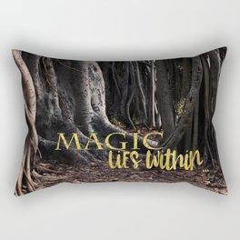 MAGIC lies within Rectangular Pillow