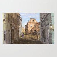 vienna Area & Throw Rugs featuring Nostalgia in Vienna by Vargamari