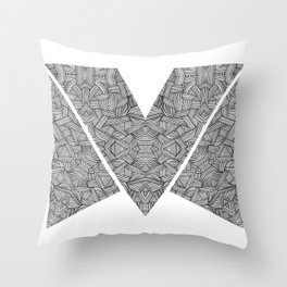 M zigzag Throw Pillow