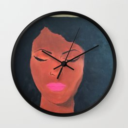 Chin Up Crown On Wall Clock