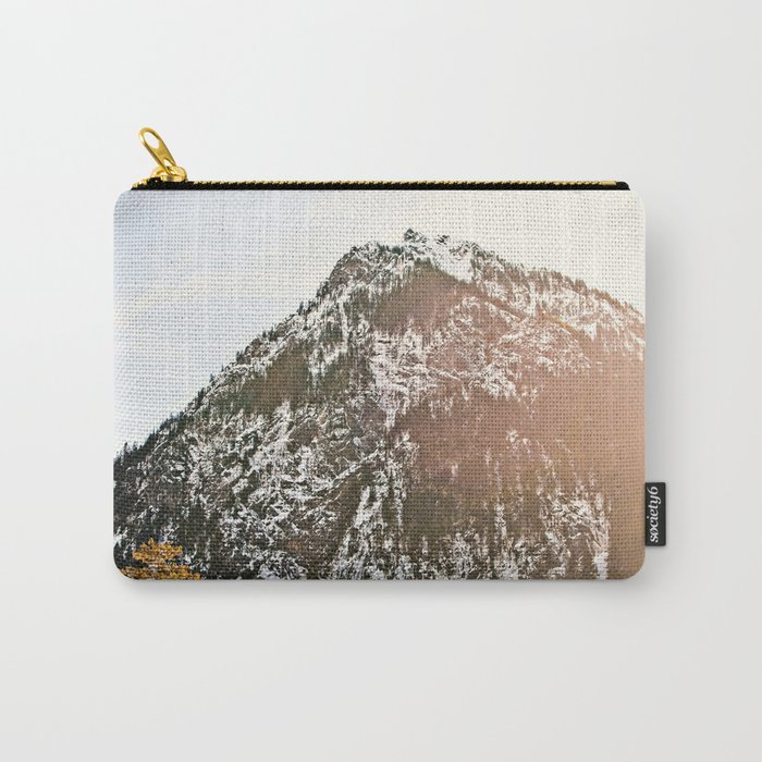 Snowy Mountain Peak in the Sun Carry-All Pouch