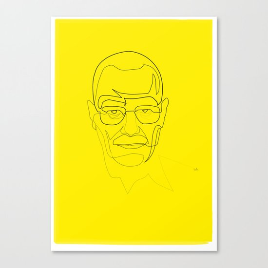 One Line Breaking Bad: Heisenberg Canvas Print