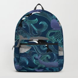 Beautiful Ocean Giants - teal Backpack
