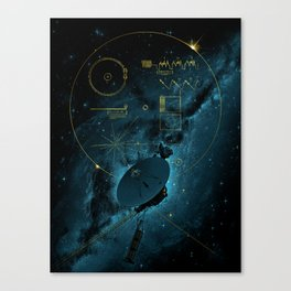 Voyager and the Golden Record - Space | Science | Sagan Canvas Print