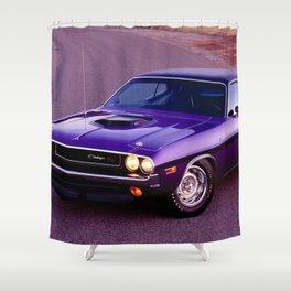 1970 Plum Crazy Purple 426 Hemi Challenger RT Shower Curtain