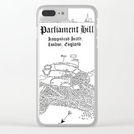 Parliament Hill Cross-Country Course Map Clear iPhone Case
