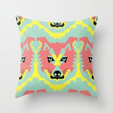 The Pack of Modular Wolves Throw Pillow