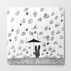I'm only happy when it rains (skulls) Metal Print
