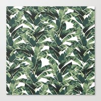 banana leaf Canvas Prints featuring BANANA LEAF by bows & arrows