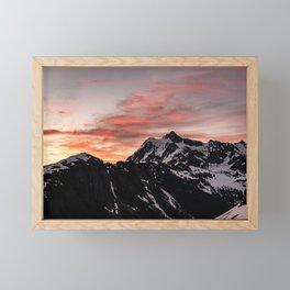 Pink Sky - Cascade Mountains - Nature Photography Framed Mini Art Print