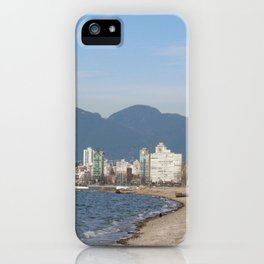 View of Vancouver from Kits Beach iPhone Case