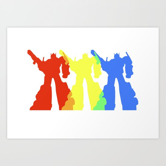 Optimus Prime Colors Art Print