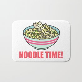 I Love Noodle Kawaii Artwork Bath Mat