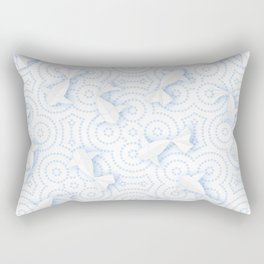 Origami Koi Fishes (Porcelain Version) Rectangular Pillow