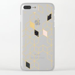Keziah - Gold & Marble Clear iPhone Case