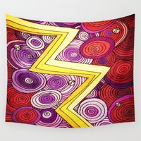 lightning Wall Tapestries featuring Lightning by DuckyB