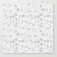 Cherry Blossom Pink Blocks Canvas Print
