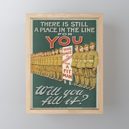 retro there is still a place in the line for you   will you fill it 1915  Framed Mini Art Print