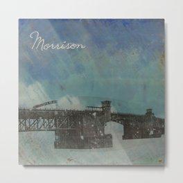 Morrison Bridge Metal Print