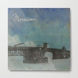 Morrison Bridge Metal Print