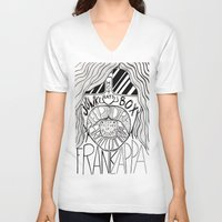 zappa V-neck T-shirts featuring Frank Zappa by JeanMar
