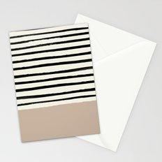 Latte & Stripes Stationery Cards