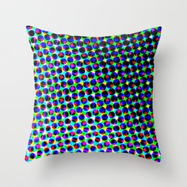 Antonina in the color grid Throw Pillow
