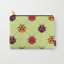 Lady Bug Yellow Carry-All Pouch
