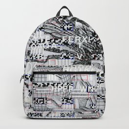 Surrender Your Information (P/D3 Glitch Collage Studies) Backpack