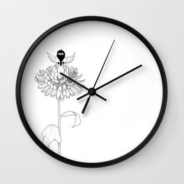 Chrysanthemum Moments Wall Clock