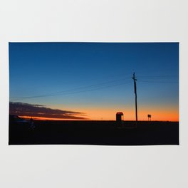 Outback sunset Rug