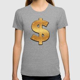 Gold Dollar Sign T-shirt
