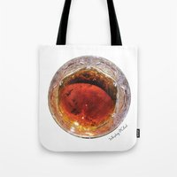whiskey Tote Bags featuring Whiskey O'Clock by Gastronomista