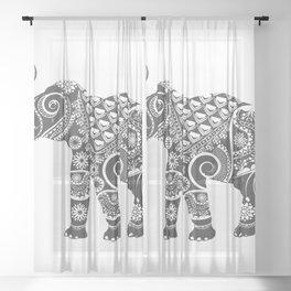 Elephant Sheer Curtain